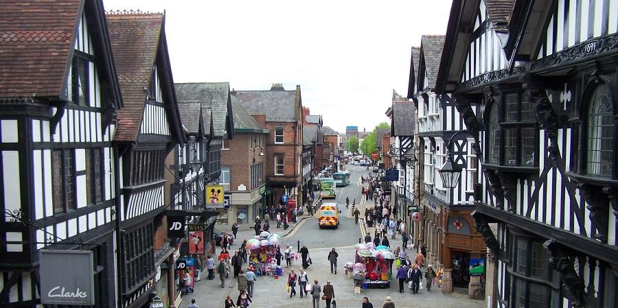 Un cuento medieval en Chester, Inglaterra