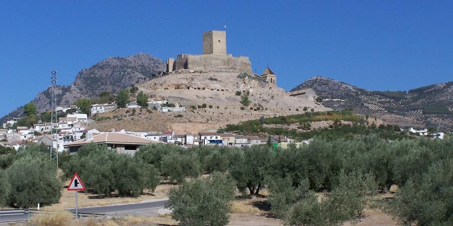 Castillo de Alcaudete, en Jaén, de origen musulmán y luego perteneciente a la Orden de Calatrava