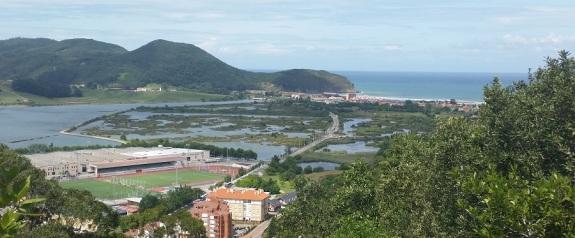 Desde los polvorines, Canal de Boó y playa de Berria al fondo