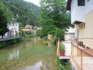 Río Bregava a su paso por Stolac