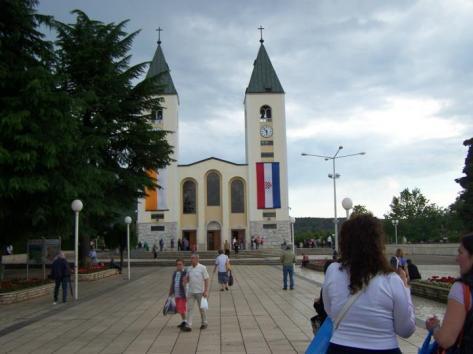 Iglesia del lugar de peregrinación mariana de Medjugorje