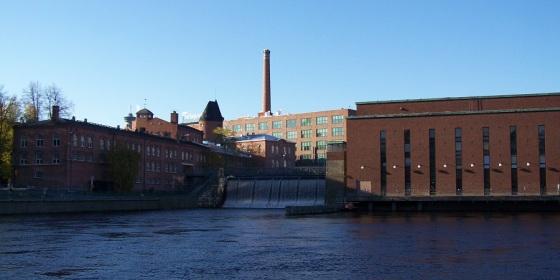 Canal de Tammerkoski, Tampere, antiguo polo industrial de la ciudad
