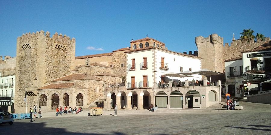 Plaza Mayor de Cáceres, viajes por Extremadura