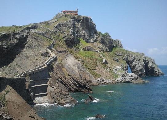 Subida hacia San Juan de Gaztelugatxe