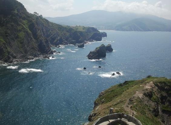 Vistas desde San Juan de Gaztelugatxe