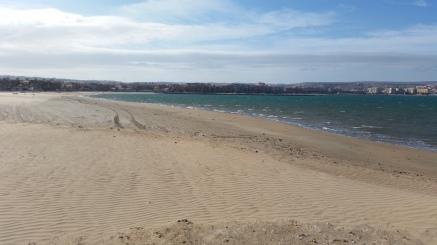 Playa de Melilla desde la frontera sureste
