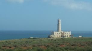 Faro español en el Rif desde La Rocade