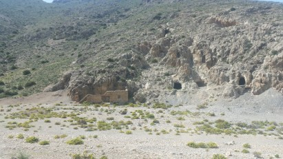 Antigua mina de plata española, hoy abandonada, en las cercanías del Peñón de Vélez de la Gomera