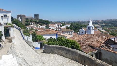 Muralla, llanura y extramuros de Óbidos