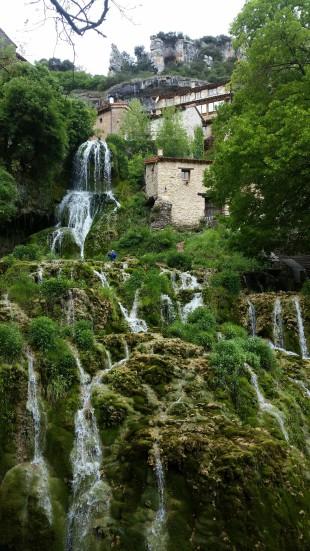 La cascada de Orbaneja del Castillo