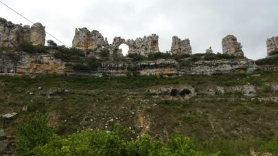 Detalle de la roca erosionada a modo de castillo