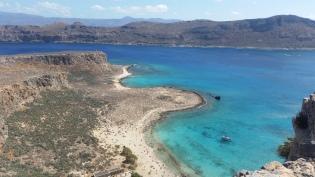 Bahía de Imeri Gramvoussa y la península al fondo desde el castillo