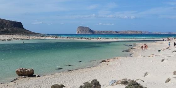 Playa de Balos, en el extremo noroeste de la isla de Creta, Grecia