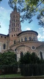 Ábside y torre de la basílica de Saint Sernin