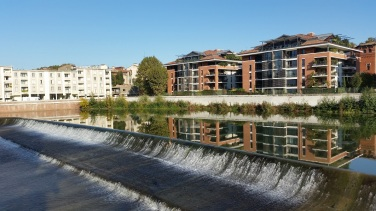 Ensanchamiento del Garona en la zona de Ramier