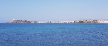 Bahía de Mazarrón desde Isla Plana