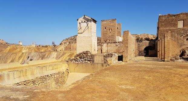 Edificios auxiliares de la mina de Mazarrón
