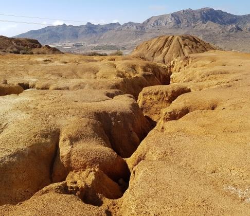 Caprichosas formaciones en la mina de Mazarrón