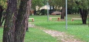 Uno de los miles de búnkeres que se confunden con el paisaje, parque Rinia