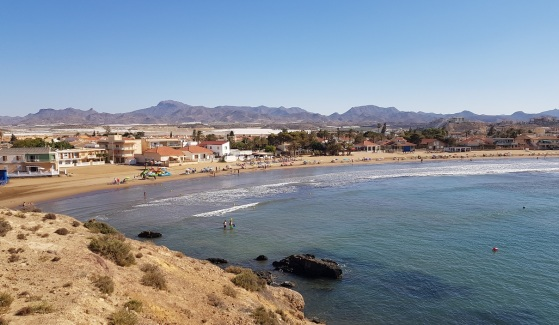 Playa de Nares desde el Cabezo del Gavilán
