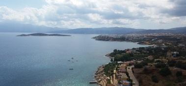 Vista de Agios Nikolaos, Agii Pantis y Mikronisi
