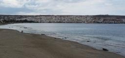 Atardecer en la bahía de Sitía