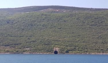Búnker de submarino de la Exyugoslavia