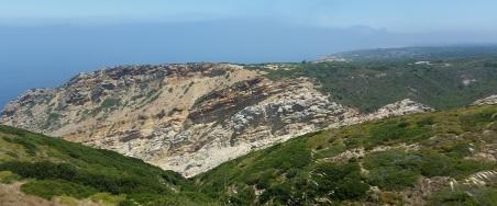 Vista de la costa en Espichel