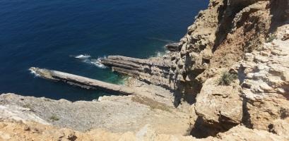 Formaciones geológicas en Espichel