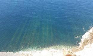 Formaciones geológicas submarinas en Espichel