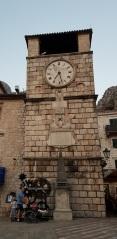 Torre del reloj en Kotor