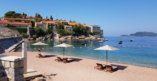 Playa privada de Sveti Stefan
