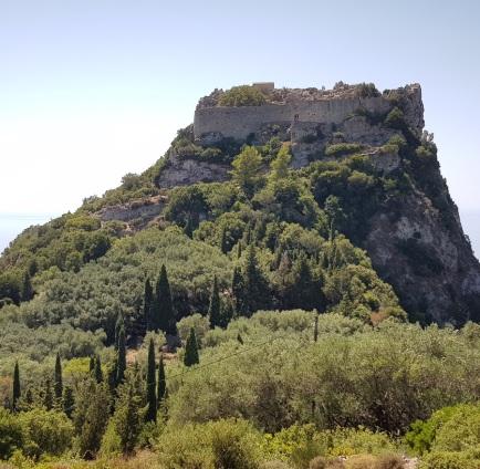 Castillo de Angelocastro en Paleokastritsa