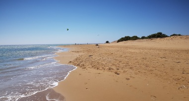 Extremo norte de la playa de Issos