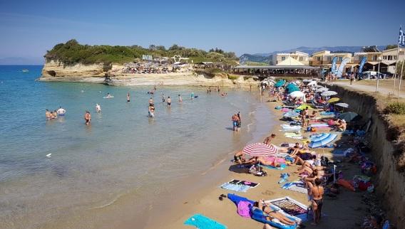 Playa anexa al Canal d'Amour, Sidari