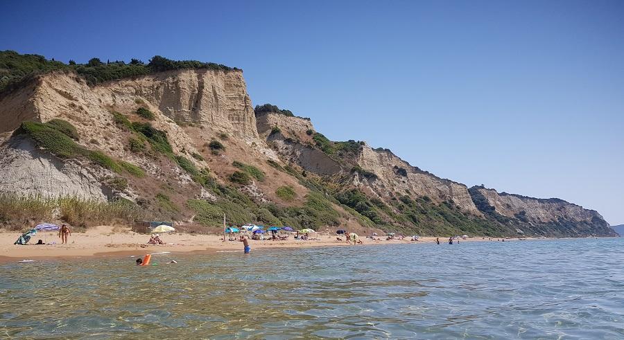 Playa de Gardenos, en el sur de la isla de Corfú