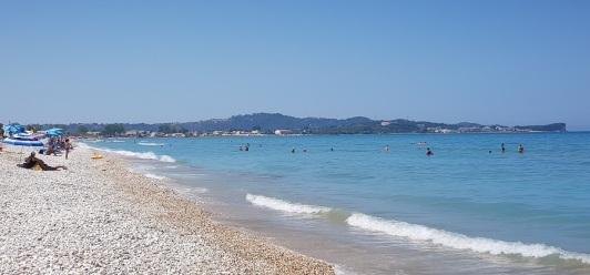 Playa de Acharavi, zona de Roda