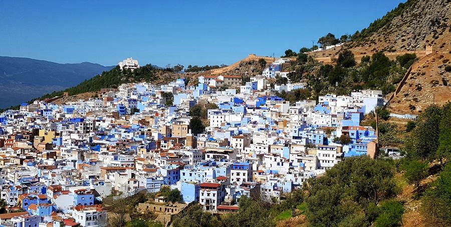 Vista general de Chefchaouen, el pueblo azul de Marruecos