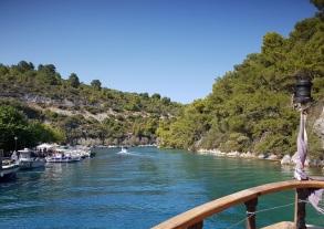 Canal entre Gáios, Paxos, y la isla de Agios Nikolaos