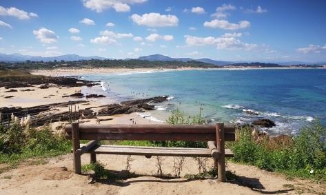 Banco hacia la playa de Somo, probablemente el banco más bonito de Cantabria