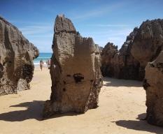 Pináculos de la bajamar de la playa del Sable, Isla
