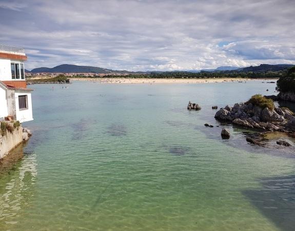 Playa del Cándano, Isla, completamente desaparecida con pleamar