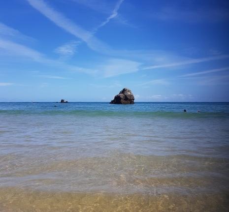 """Isla, Cantabria, desde la """"nueva orilla"""" de El Sable y Cuarezo, alta mar"""