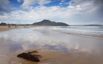 Playa de Berria con la punta del Brusco y las playas de Noja al fondo