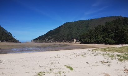 Playa del Sable, ría de Tina Menor, en bajamar