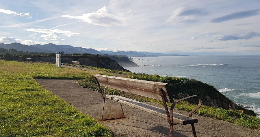Mirador de la playa de Cueva, en el Cabo Vidio, Cudillero
